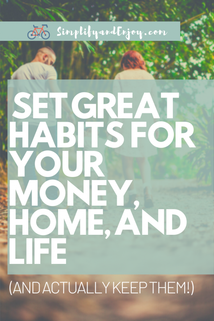 Most of us have our hands full. Too many times, our finances, health, and homes don't get the attention they deserve. We'll dive in with how you can reset your habits and simplify finances, home, and life so that you can have some big wins this year! #habits #goals